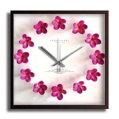 Plumeria Clock Pink